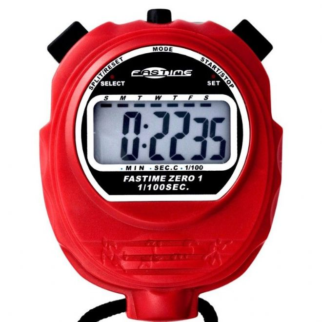 Budget Range Stopwatches - Fastime 01 Stopwatch (Red)